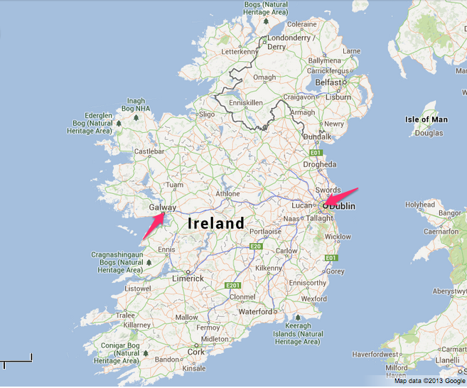 google maps dublin ireland get directions